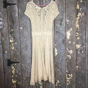 Anthropologie Dresses - Anthropologie Moth•Crochet Cloud Dress